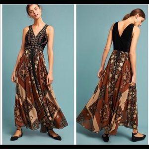 NWT Anthropologie RAGA velvet beaded dress oh my!